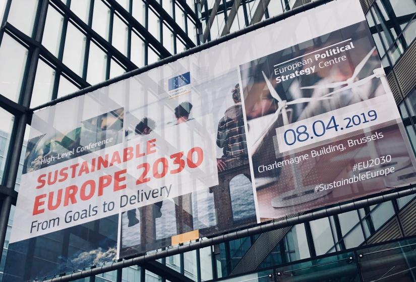 """Reportage från konferensen """"Ett hållbart Europa 2030, från mål tillresultat""""."""